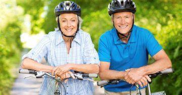 Older Couple On Bikes