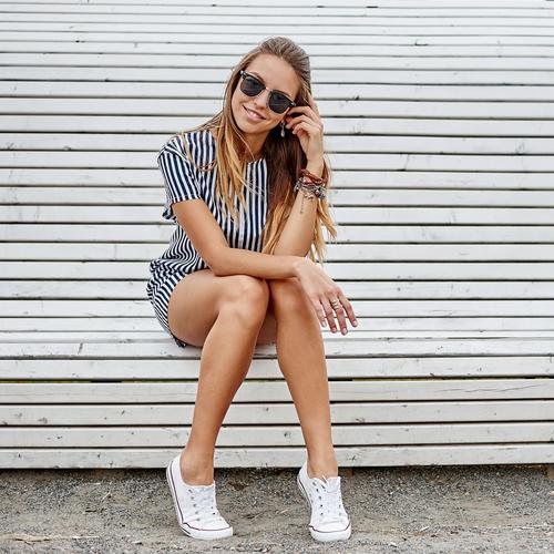 Model posing